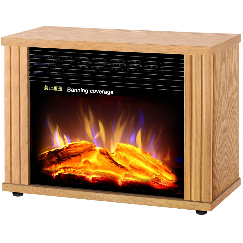 Vertical Home Retro Solid Wood Heaters Namely Hot Type Heaters Office Electric Heaters 3D Electric Fireplace D258