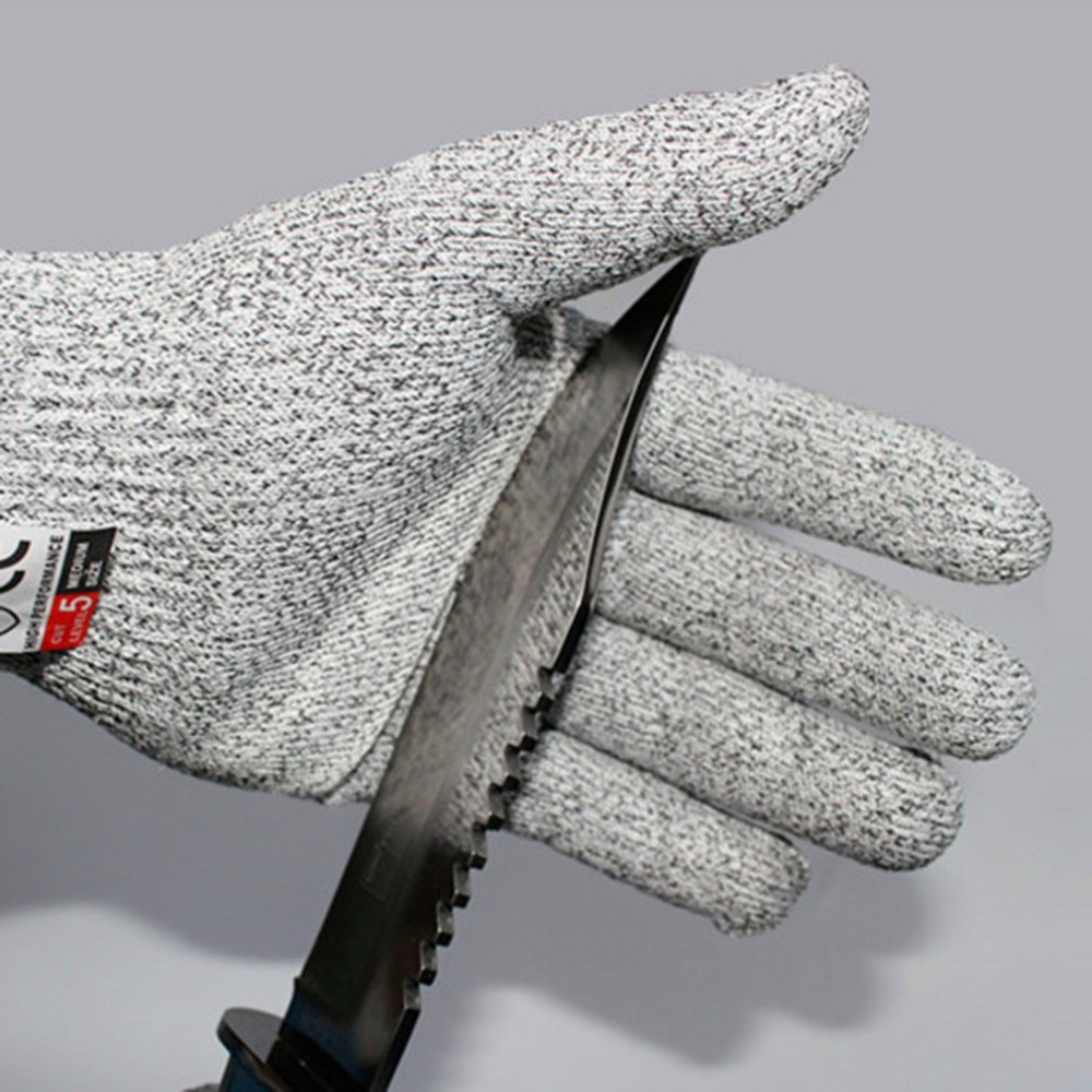 1 Pair Working Safety Gloves Stainless Steel Wire Cut Metal Mesh Gloves Butcher Anti-cutting Stab-resistant Breathable Gloves