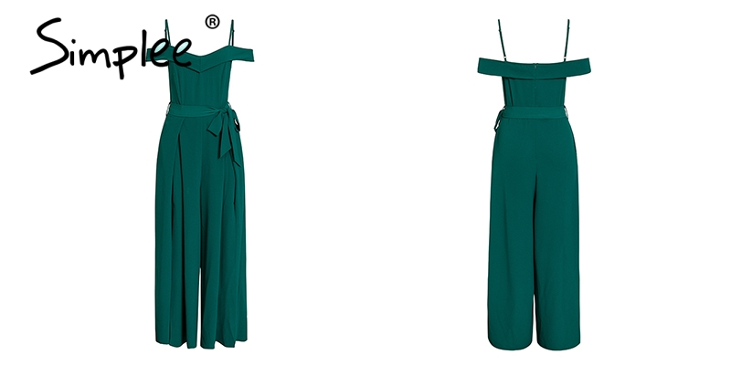 HTB1e8P2ajzuK1Rjy0Fpq6yEpFXa8 - Simplee Sexy off shoulder women jumpsuit romper Elegant high waist red jumpsuit long Summer wide leg lady playsuit overalls