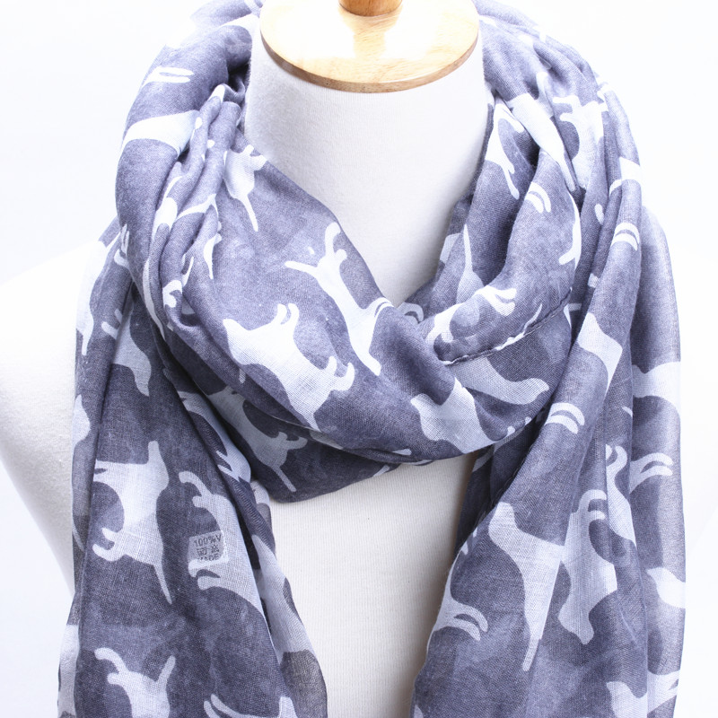 7 colors 2015 new brand winter scarf puppy pattern