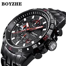 BOYZHE Mechanical Watch Men Automatic Fashion Mens Watches Top Brand Luxury Stainless Steel Sport Miyota Wristwatch