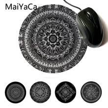 Maiyaca ваши собственные коврики Мандала каракули в черный белый