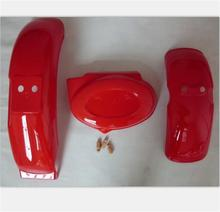 Z50 RED plastic front fender & rear left for honda moto MONKEY DIRT PIT bike z 50  P003
