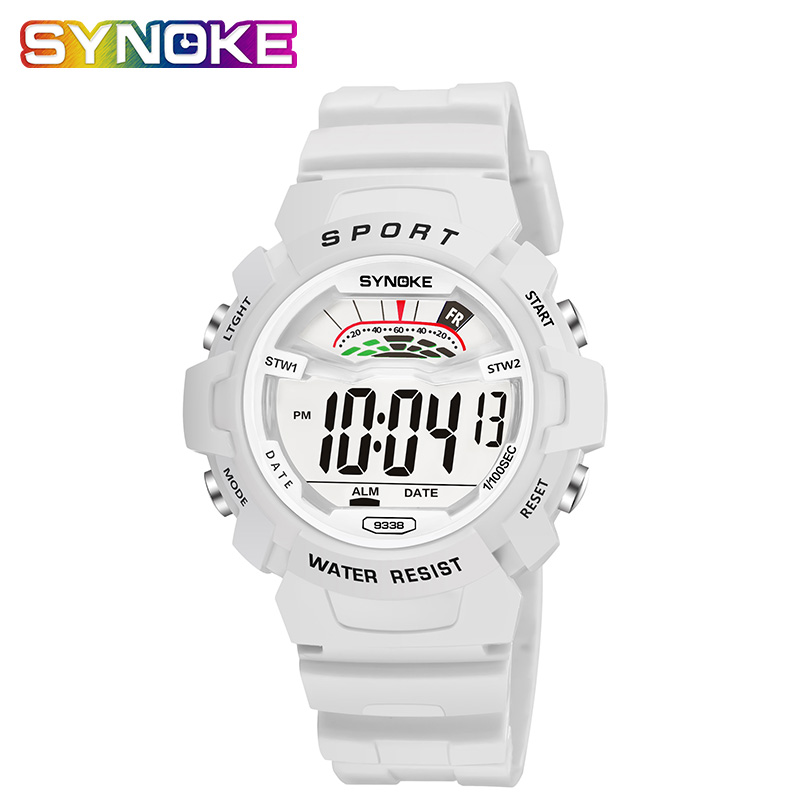 SYNOKE White Sport Watch 2019 Children's Watches Kids Watches Digital Girls Waterproof Montre Enfant Fille