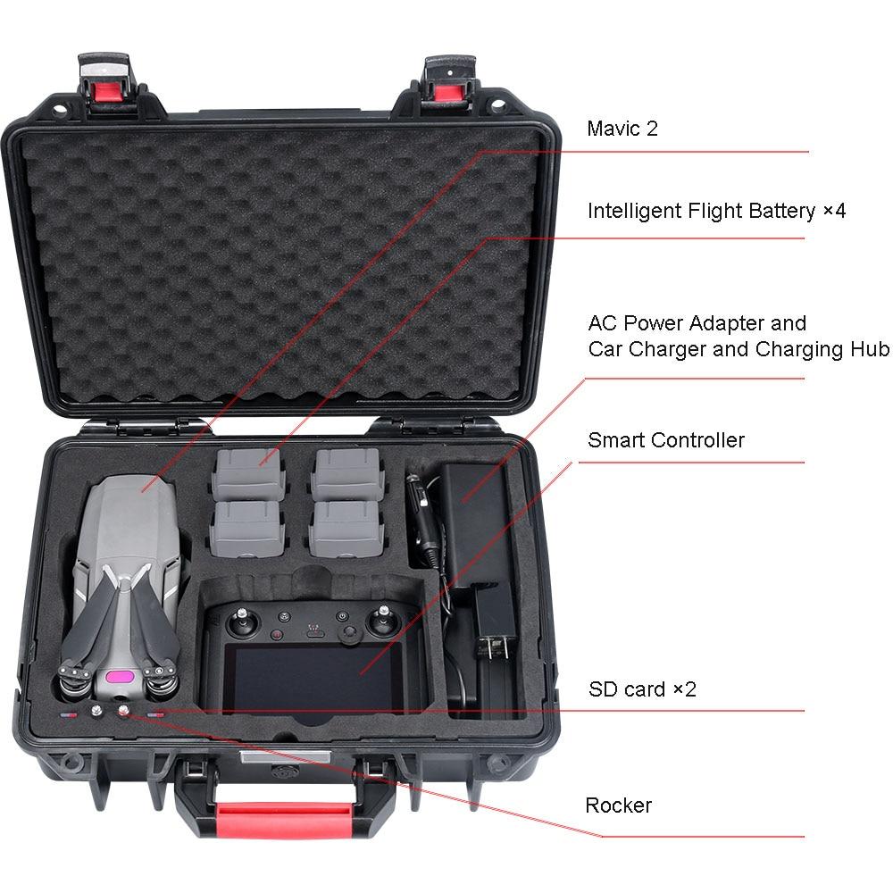 Smatree Impermeabile Custodia per il trasporto per DJI Mavic 2 Pro/DJI Mavic 2 Zoom Volare Più Combo, per DJI Controller Smart - 3