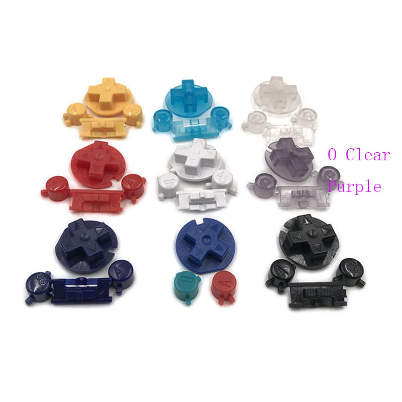 50Sets Plastic Colorful Buttons Keypads for Gameboy Color Buttons for GBC D Pads A B Buttons