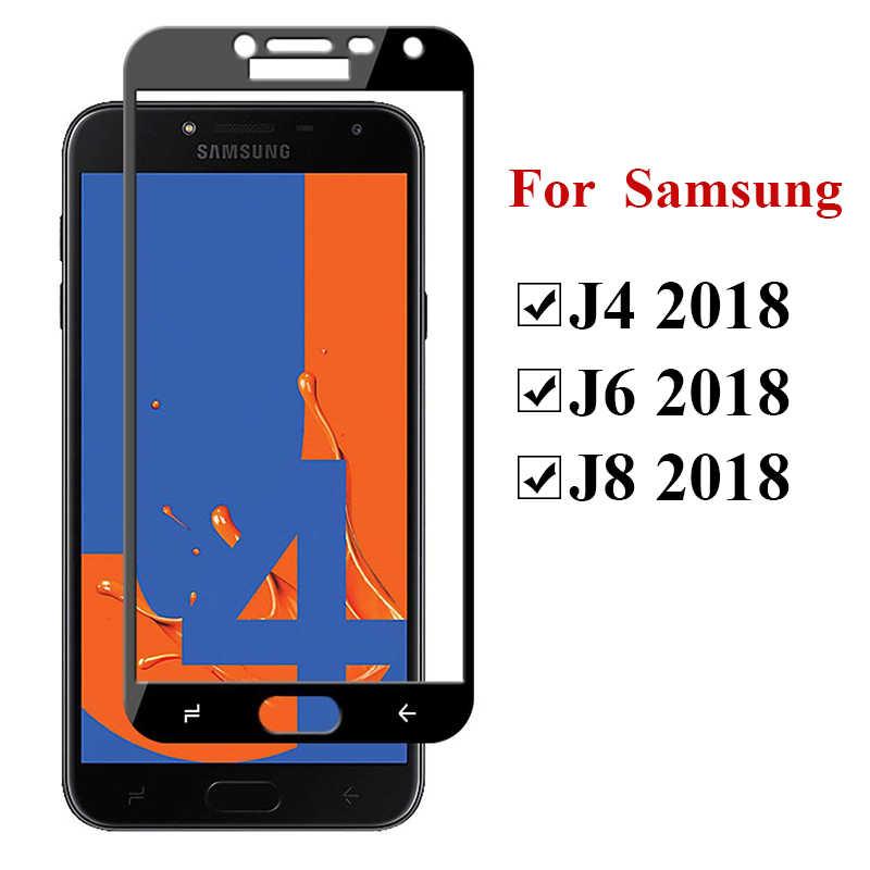 保護のための samsung galaxy j4 j6 j8 2018 強化 glas スクリーンプロテクターケースに galaxi J 4 6 8 4j 6j 8j 安全フィルム 9 h