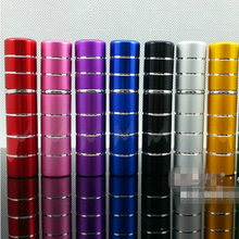 25PCS Hot Amazing Travel Pump Perfume Atomizer Refillable Spray Atomizer Empty Bottle Glass 5ml Anodized Aluminum Scent Bottle