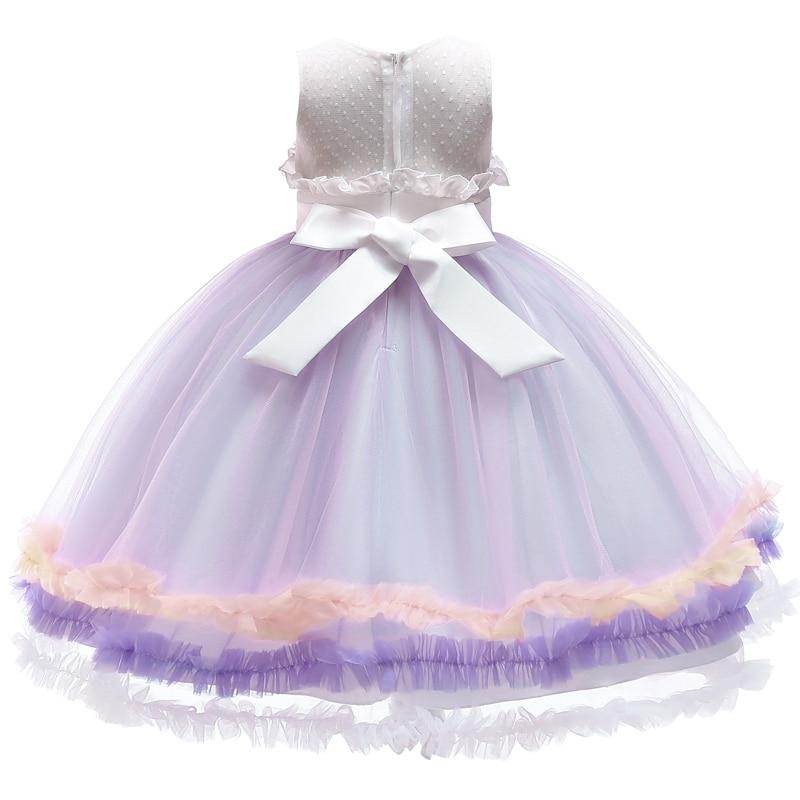 HTB1e8Q aiHrK1Rjy0Flq6AsaFXaM Unicorn Dresses For Elsa Costume Carnival Christmas Kids Dresses For Girls Birthday Princess Dress Children Party Dress fantasia