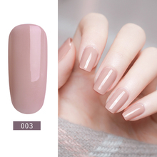 Color Base Gel Nail Polish Rubber Base Coat Top Coat Nude Gel Lak UV LED Gel Lacquer 2 in 1 Camouflage Gel Manicure 8ml