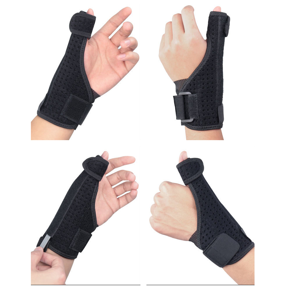 Protective Gear Thumb Steel P Ate Support Hand Protector Bracers Wrist 1 Piece LFSPR0077