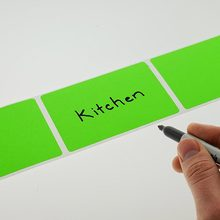 Fluorescent labels green color matching 5*4CM rectangle shaped stickers-500 per roll
