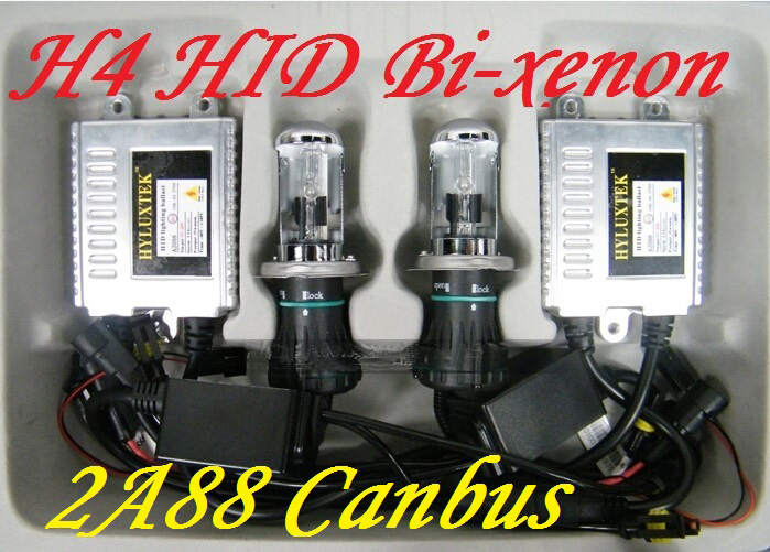 HYLUXTEK,canbus HID Bi-xenon KIT,2A88,H4,HI/LO,HID kit,35W 12V,Free ship!H4 HI/LO,9007 9004 h13,4300~8000K