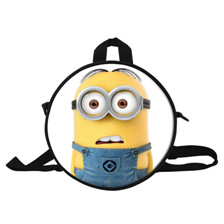3 9 Inch Fashion Hero SuperMan Cartoon Bag For Kids The Avengers 2 Round Backpack For Boys School Bags For Children 1-6 Years Old