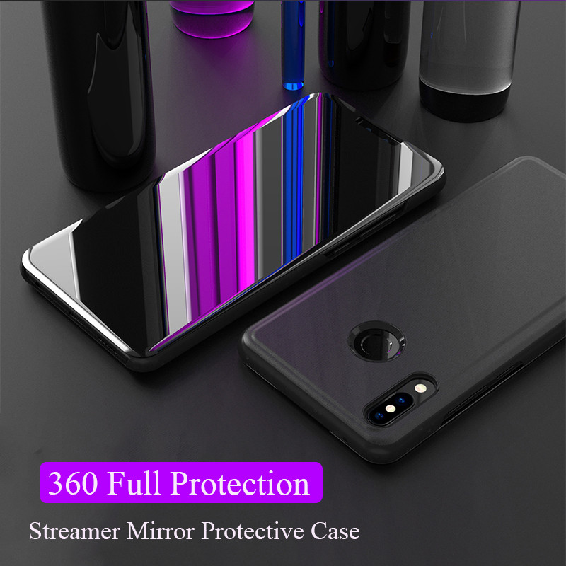 Mirror Touch Flip Case For Huawei Mate 20 10 P20 Pro Lite Nova 3 3i Y7 Y9 2018 2019 Stand Cover hawei <font><b>honor</b></font> <font><b>8x</b></font> max note 10 lite image