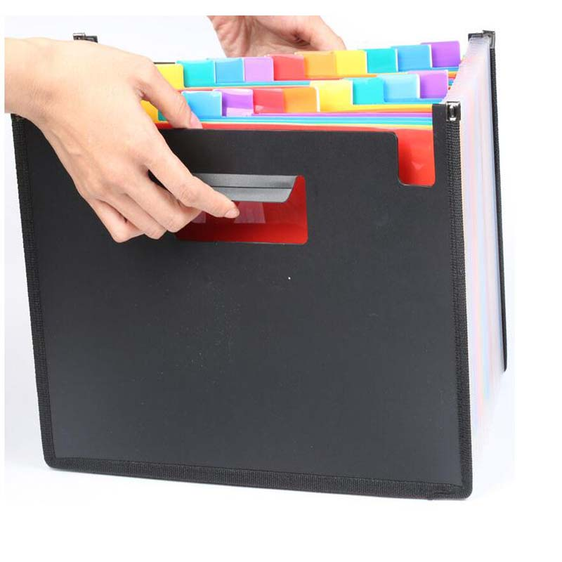 Plastic A4/a4 Document/file Folder/organizer/bag/case For Documents/expanding/file Foldable 24 Pockets Extension Folder