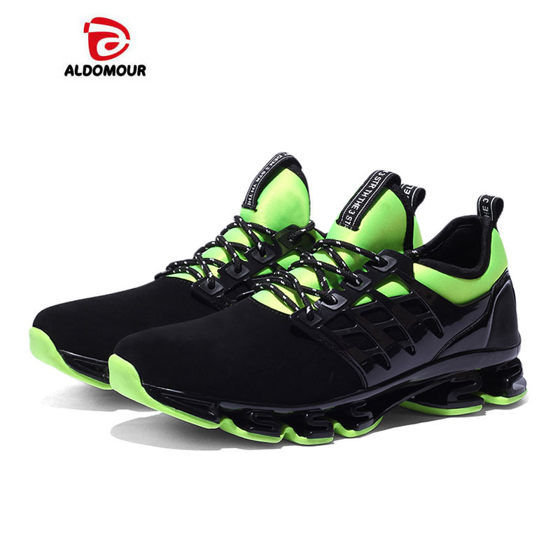 ALDOMOUR Running Super Cool Breathable Running Shoes Men Sneakers Bounce Summer Outdoor Sport Shoes Professional Training Shoes