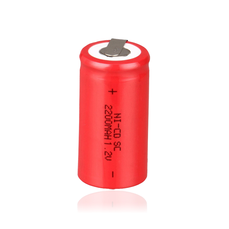 4PCS/lot Sub C SC 1.2V 2200mAh Ni-Cd Ni Cd Rechargeable Battery Batteries Red color Free ...