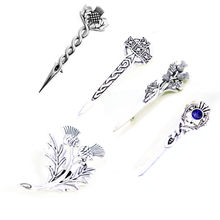HANCHANG Brooches for Women Men Cloak Pin Outlander Scottish Thistle CelticCross Brooch Pins Vintage Accessories(China)
