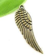 20Pcs Bronze Tone Tercel Wing Charms Pendants Aile Breloque Jewelry Making 9x30mm