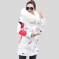 Hot Sale 2017 New Winter Coats And Jackets Women Slim Long Parka Thick Warm Big Fur