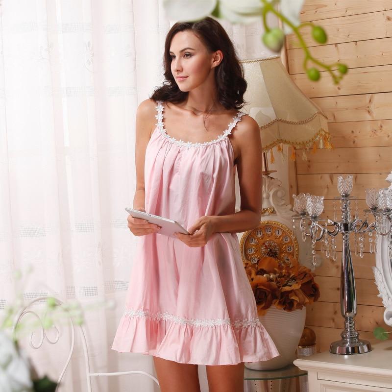 Cotton Nightgown Princess Women Plus Size White Cotton Sleeveless ...