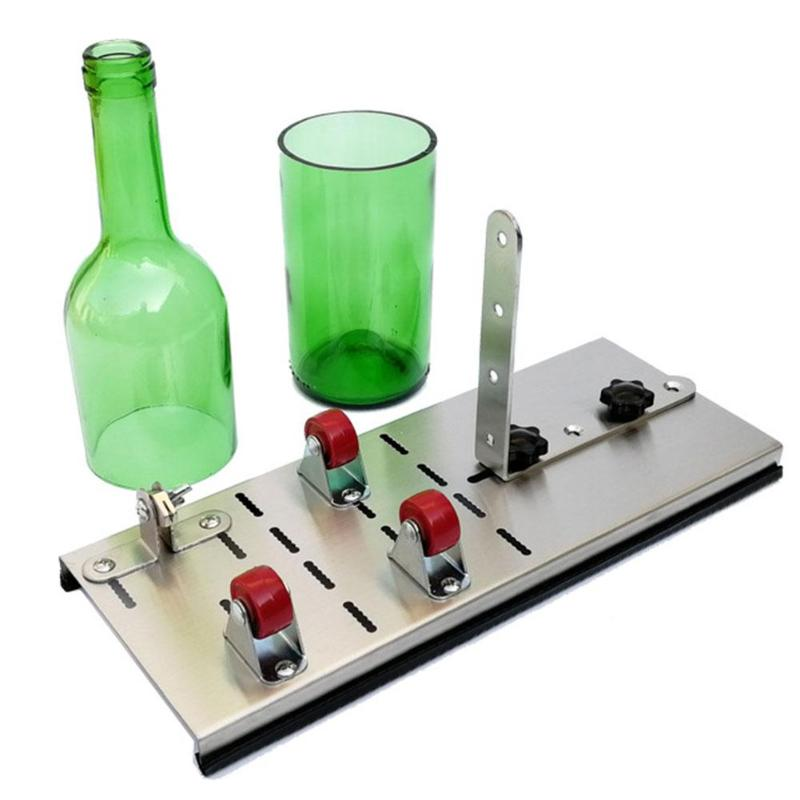Glass Bottle Cutter Cutting Beer Wine Jar Accurate Cutting Machine Thickness 2-12mm Stainless Steel Cutting Tool