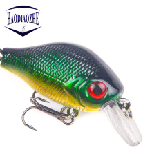 Купить с кэшбэком CrankBait Fishing Lure Wobblers 5.5cm 9g Artificial Lifelike Minnow Crank baits Quality Triple Hooks Pesca Fishing Tackle Isca