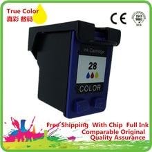 Tri-Color Ink Cartridges Remanufactured For 28 XL 28XL HP28XL HP28 Deskjet 3650 3650v Officejet 4211 4212 4215 4219 4251