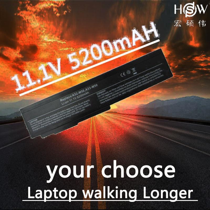 HSW 5200mAh 6 Cells Laptop Battery for Asus M50 M50s M50VM A32-M50 A32-N61 A33-M50 N61J N61Ja N61jq N61jv N61 N53 Bateria Akku недорго, оригинальная цена