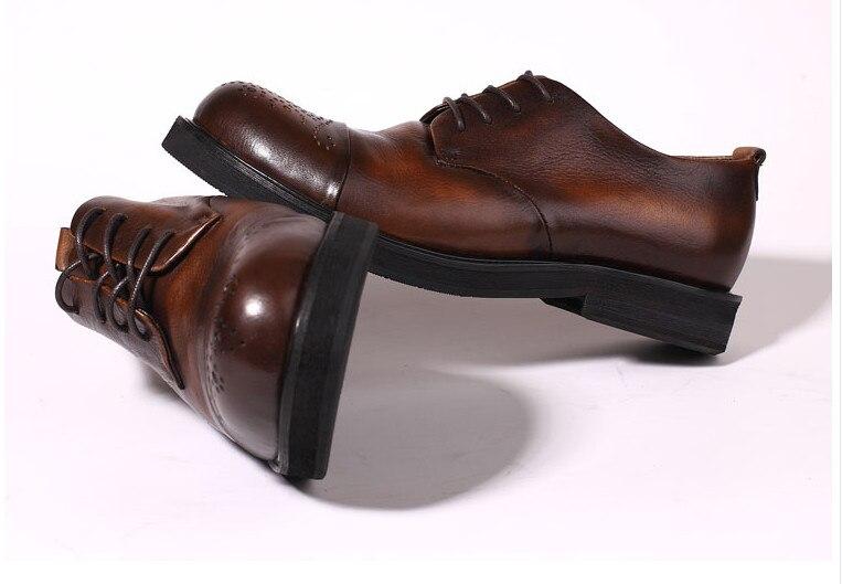 Hechos Hombres Pic Transpirable De A Color Grandes Tallado Brogue Estilo Genuino Cuero Redondos Envío Del Zapatos Nuevo Pic Libre Dedos Mano As as Mezclado wqgpIZ5