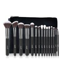 MSQ Pro 15 шт. набор кистей для макияжа Пудра основа тени для век макияж кисти Косметика Мягкие синтетические волосы