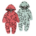 Newborn Baby Boy Winter warm Clothes Thickening Baby Rompers cotton five-pointed star pattern Baby Girl Winter Coverall Hooded