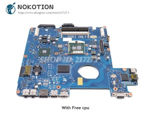 NOKOTION For Samsung NP-P580 P580 NT-P580 Laptop Motherboard HM55 DDR3 Free cpu BA92-06475A BA92-06475B