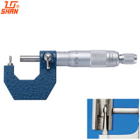 SHAN Tube Micrometers 0 25mm/0.01mm Gauge Micrometer For Measuring Thicknes Of Pipes And Tubes Vernier Caliper Measuring Tools