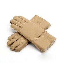 ^ Женские теплые перчатки из натуральной кожи марки 2016 модные женские рукавицы водонепроницаемые  √