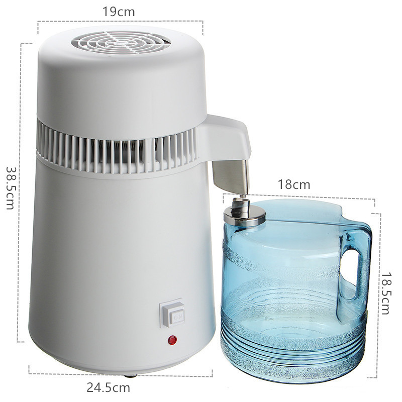 Distilled Water Machine Water Filters  4L Safe Health Drinking Household 220V Water Pure Distiller Purifier Filter 304 Stainless