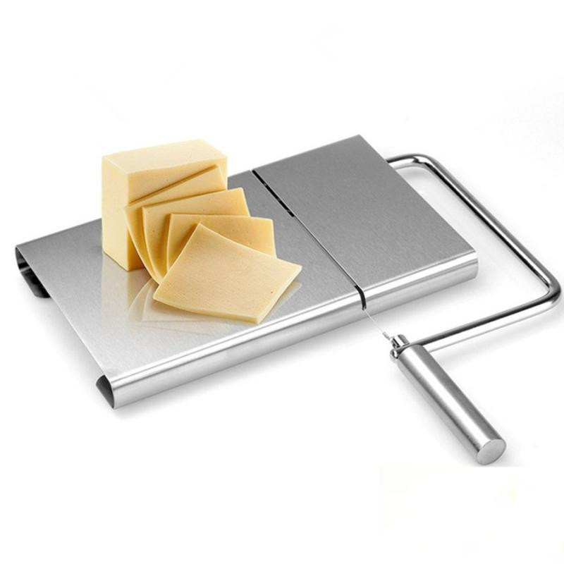 Stainless Steel Modern Cheese Slicer with Stainless Steel Wires Cheese Board With Slicer Wire Cheese Slicer image