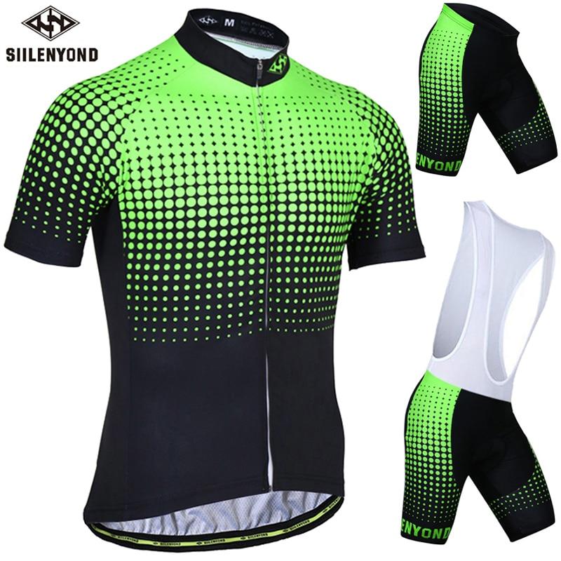 Siilenyond Farinha Verde Camisa de Ciclismo Definir Anti-UV Ciclismo Roupas  Bicicleta Terno Roupas de 49a1e8fd34