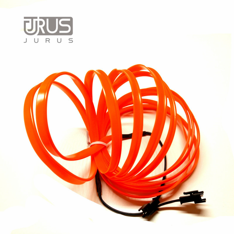 Jurus Auto 3meters 12v El Wire Cold Light Lamp Neon Lamp Car Atmosphere Lights Unique Decor Interior Lamp Led Bulbs Car Styling