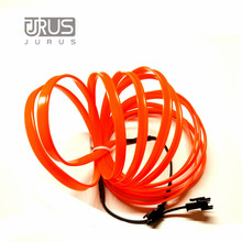 JURUS AUTO 3meters 12V EL Wire Cold light lamp Neon Lamp Car Atmosphere Lights Unique Decor Interior LED bulbs car styling