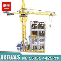 Лепин 4425 15031 PcsMOC серии классический Строительная площадка с краном набор совместимый LegoINGly строительные блоки кирпичи игрушки