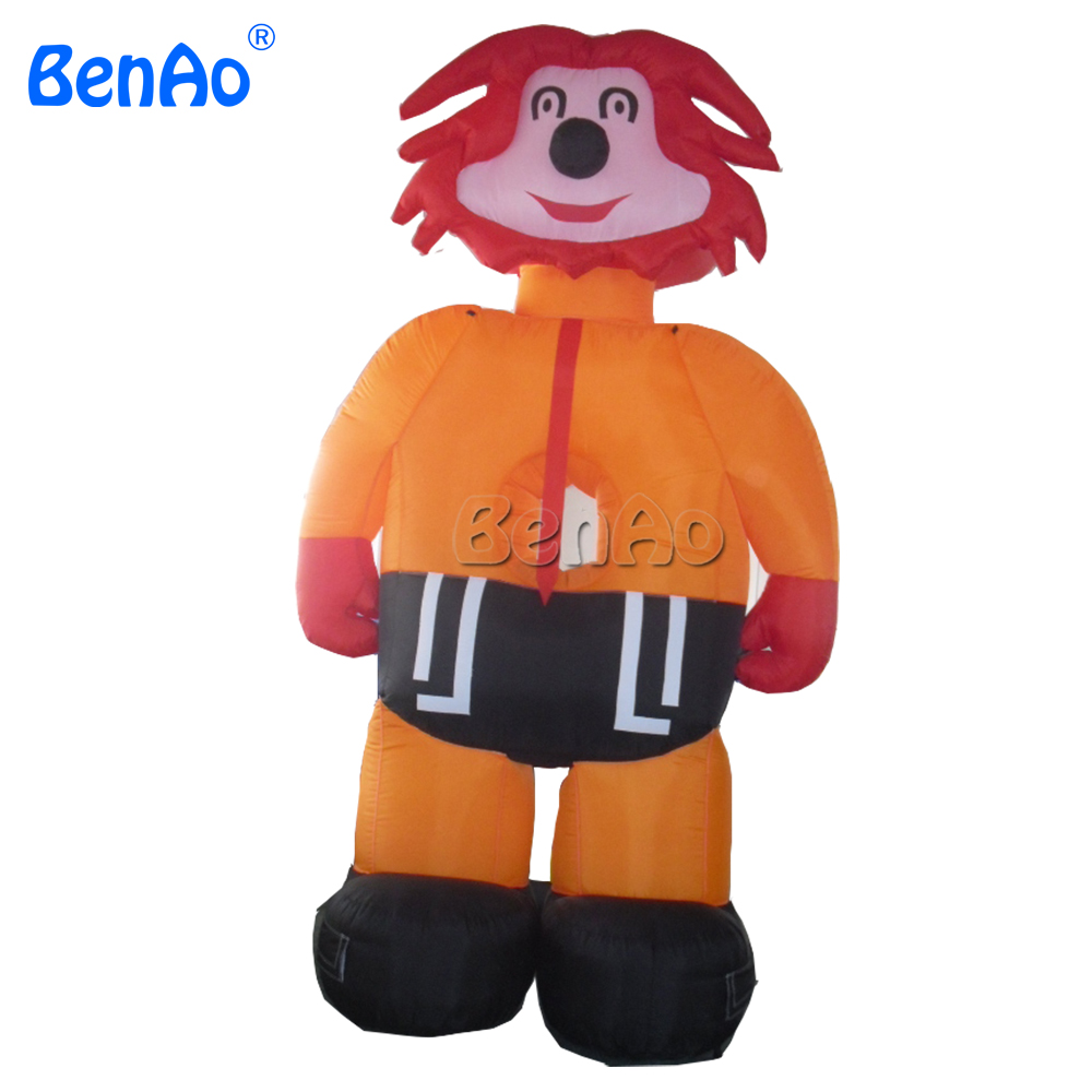 AC055 BENAO 3mH  Happy Face Event Clown Inflatable Customized Advertising Inflatable Clown Cartoon/inflatable lion cartoon ao058m 2m hot selling inflatable advertising helium balloon ball pvc helium balioon inflatable sphere sky balloon for sale