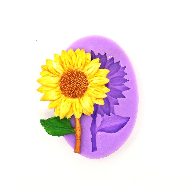 Sunflower Silicone Cake Mold, Chocolate Mold, Silicone Soap Mold, Cake Decoration Tools, Kitchen Accessories LH05