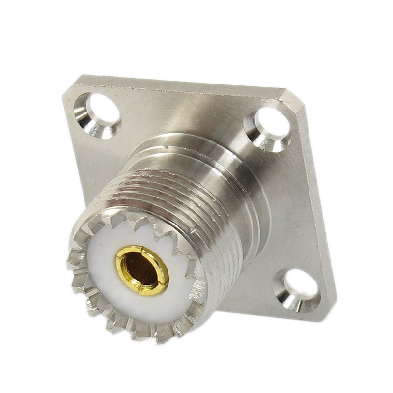 UHF Female SO239 Panel Chassis Mount Flange Deck Solder Cup RF Connector