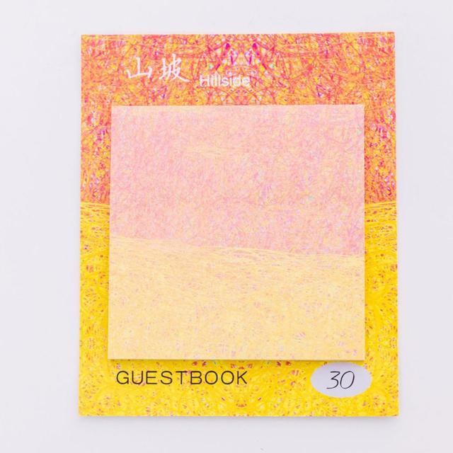 Lindo Kawaii pintura creativo Bloc de notas autoadhesivo N veces Bloc de notas adhesivas marcapáginas escuela Oficina suministro