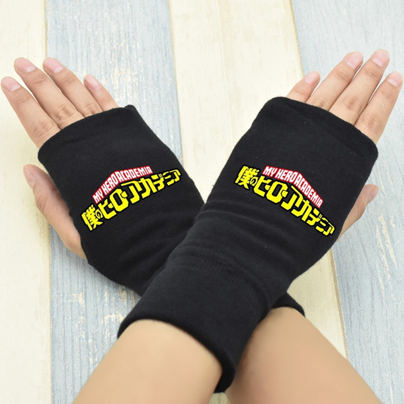 Anime One Piece Monkey D Luffy Half Finger Cotton Knitting Wrist Gloves Mitten Lovers Anime Accessories Cosplay Gloves Fashion Kids Costumes & Accessories