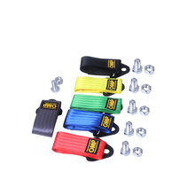 OMP Towing Rope High Strength Nylon JDM trailer Tow Ropes Racing Car Universal Eye Strap Bumper Trailer