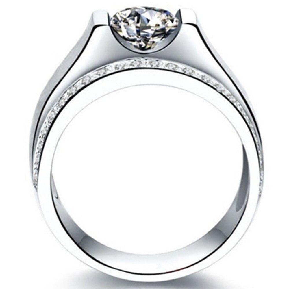 ผู้ชายหล่อแหวนจำลองเพชร1CTหมั้นแหวนเงินผู้ชายแต่งงานเครื่องประดับแหวนทองคำขาวชุบเครื่องประดับผู้ชาย-ใน ห่วง จาก อัญมณีและเครื่องประดับ บน AliExpress - 11.11_สิบเอ็ด สิบเอ็ดวันคนโสด 3