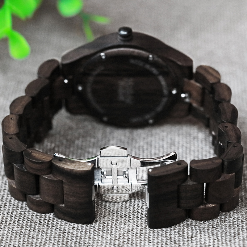 Fashion Brand Women Wooden Watch New Year Gift Bangle Quartz Watch with Calendar Display Role Women unisex masculino watches in Women 39 s Watches from Watches
